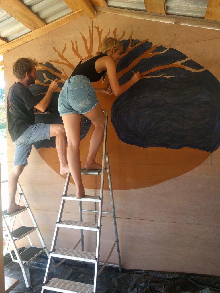 Peinture à l'Ocre